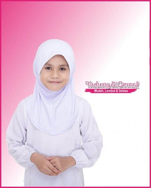 Tudung Sekolah Awning Lembut Putih 518-11 III 800x996