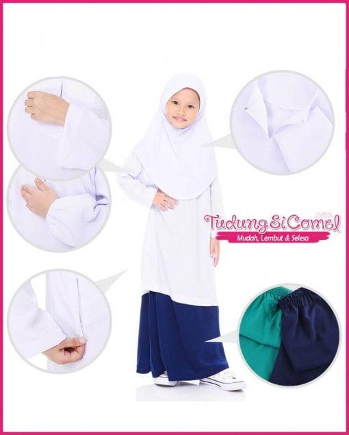 Pakaian Sekolah Rendah Perempuan TudungSiComel
